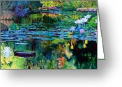 Reflections In Water Greeting Cards - The Abstraction of Beauty one and two Greeting Card by John Lautermilch