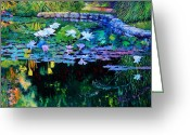 Reflections In Water Greeting Cards - The Abstraction of Beauty two Greeting Card by John Lautermilch