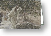 Jesus Painting Greeting Cards - The Accursed Fig Tree Greeting Card by Tissot