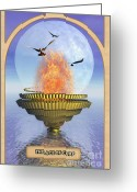 Prediction Greeting Cards - The Ace of Cups Greeting Card by John Edwards