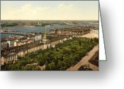 Admiralty Greeting Cards - The Admiralty Palace in St Petersburg Russia - ca 1900 Greeting Card by International  Images