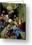 Mother Gift Painting Greeting Cards - The Adoration of the Kings Greeting Card by Fray Juan Batista Maino