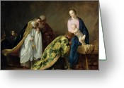 Baby Jesus Greeting Cards - The Adoration of the Magi Greeting Card by Pieter Fransz de Grebber