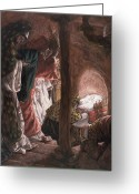 Stable Greeting Cards - The Adoration of the Wise Men Greeting Card by Tissot