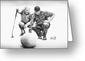 Golf Club Greeting Cards - The Advisor LE Greeting Card by Peter Piatt