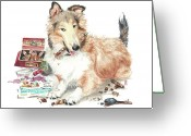 Veterinarian Greeting Cards - The Aficiondo Greeting Card by Debra Jones
