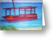 Teresa Dominici Greeting Cards - The african diving boat Greeting Card by Teresa Dominici