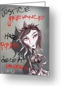 Spraypaint Greeting Cards - The Aggressive Resolution Greeting Card by Iosua Tai Taeoalii
