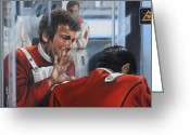 Trek Greeting Cards - The Agony of Loss Greeting Card by Kim Lockman