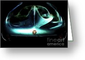Bat Greeting Cards - The Alfa BAT Greeting Card by Wingsdomain Art and Photography