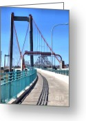 Blue Collar Greeting Cards - The Alfred Zampa Memorial and Carquinez Bridges . 5D16833 Greeting Card by Wingsdomain Art and Photography