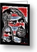 Nirvana Mixed Media Greeting Cards - The All American Boy  Greeting Card by Jason Kasper