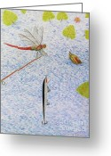 Pole Drawings Greeting Cards - The allure of the rod Greeting Card by Gerald Strine