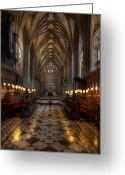 Stained Greeting Cards - The Altar Greeting Card by Adrian Evans