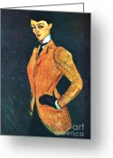 Modigliani Greeting Cards - The Amazon Greeting Card by Pg Reproductions