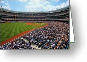 New York Yankees Greeting Cards - The American Game Greeting Card by Mitch Cat
