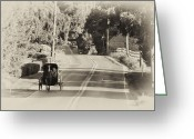Buggy Greeting Cards - The Amish Buggy Greeting Card by Bill Cannon