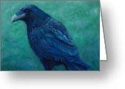 Crow Greeting Cards - The Ancient One Greeting Card by Brian  Commerford
