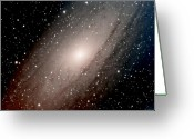 Starry Greeting Cards - The Andromeda Galaxy Close  Up Greeting Card by Jim DeLillo