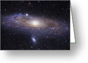 Color Greeting Cards - The Andromeda Galaxy Greeting Card by Robert Gendler