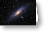 Starfield Greeting Cards - The Andromeda Galaxy Greeting Card by Roth Ritter