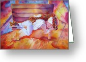 Reproducciones Tropicales Greeting Cards - The Angels Nap Greeting Card by Estela Robles