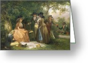 Posh Painting Greeting Cards - The Anglers Repast  Greeting Card by George Morland