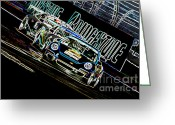 Super Car Greeting Cards - The Apex Greeting Card by Sebastian Musial