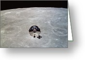 Space Travel Greeting Cards - The Apollo 10 Command And Service Greeting Card by Stocktrek Images