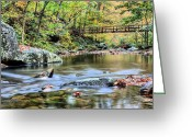 Creeks Greeting Cards - The Appalachian Trail Greeting Card by JC Findley