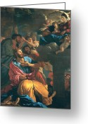Poussin Greeting Cards - The Apparition of the Virgin the St James the Great Greeting Card by Nicolas Poussin