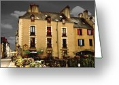Redon Greeting Cards - The Appartment Building Greeting Card by Mark Hendrickson