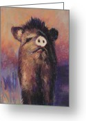 Young Pastels Greeting Cards - The Aristocrat Greeting Card by Billie Colson