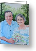 Photorealism Greeting Cards - The Armstrongs Greeting Card by Mike Ivey