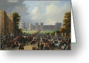 Monarchs Greeting Cards - The Arrival of Louis-Philippe Greeting Card by Edouard Pingret