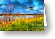 Mallards Greeting Cards - The Arrival of Spring . 7D12643 Greeting Card by Wingsdomain Art and Photography