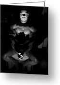 Men In Black Greeting Cards - The Art Model Greeting Card by Jake Hartz