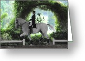 Dressage Photo Greeting Cards - The Art of Dressage Greeting Card by Terry Kirkland Cook