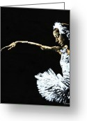 Ballet Greeting Cards - The Art of Grace Greeting Card by Richard Young