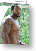 Nudes Males Greeting Cards - The Art of Male Muscle Greeting Card by Jake Hartz