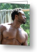 Nudes Males Greeting Cards - The Art of Muscle Greeting Card by Jake Hartz
