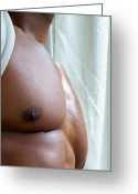 Nudes Males Greeting Cards - The Art of Muscle Perfect Pecs Greeting Card by Jake Hartz
