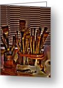 Easel Greeting Cards - The Artist Greeting Card by David Patterson