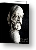 Male Sculpture Greeting Cards - The Artist Greeting Card by Wayne Niemi