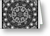 Radial Design Greeting Cards - The Arts Mandala Greeting Card by Matthew Ridgway