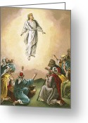Disciples Greeting Cards - The Ascension Greeting Card by English School