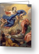 Virgin Maria Greeting Cards - The Assumption of the Virgin Greeting Card by Guillaume Courtois
