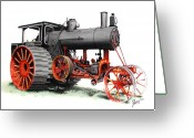 Farm Machine Greeting Cards - The Avery Greeting Card by Ferrel Cordle