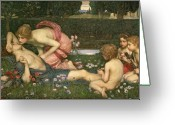 John William Waterhouse Greeting Cards - The Awakening of Adonis Greeting Card by John William Waterhouse