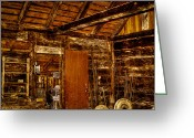 Tacoma Greeting Cards - The Back Room of the Blacksmith Shop Greeting Card by David Patterson